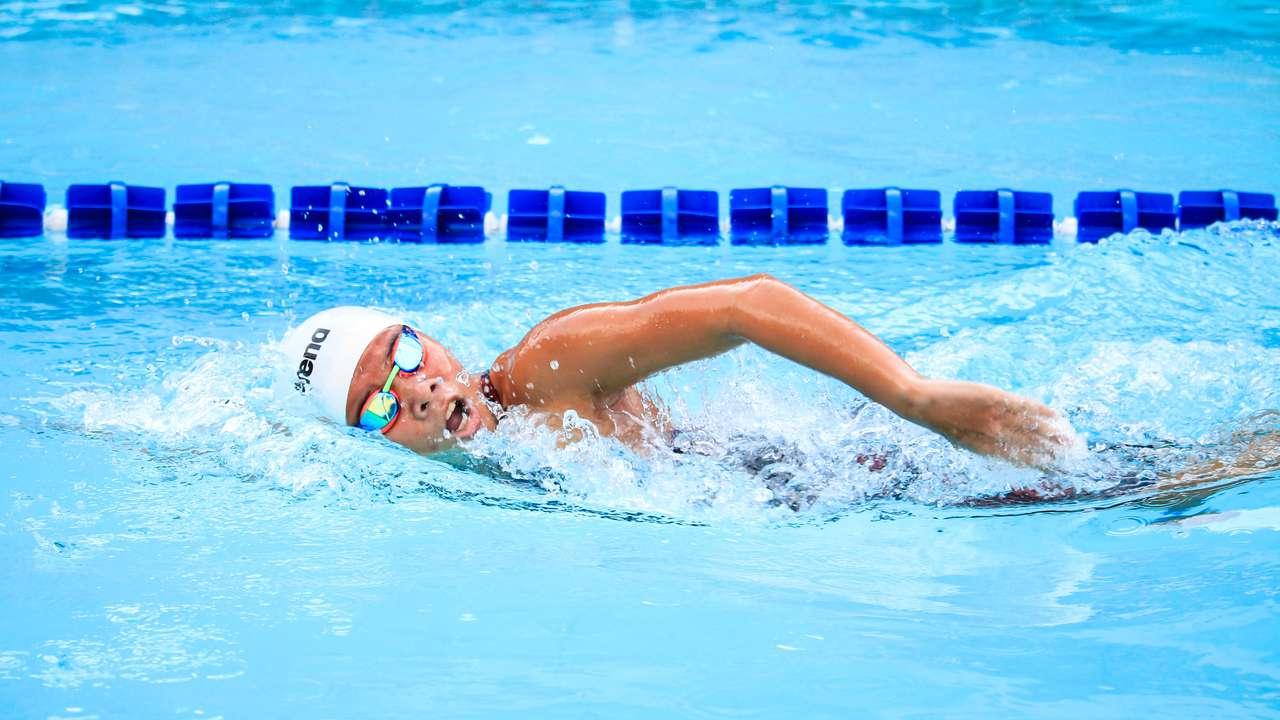 Zwemmen in banen