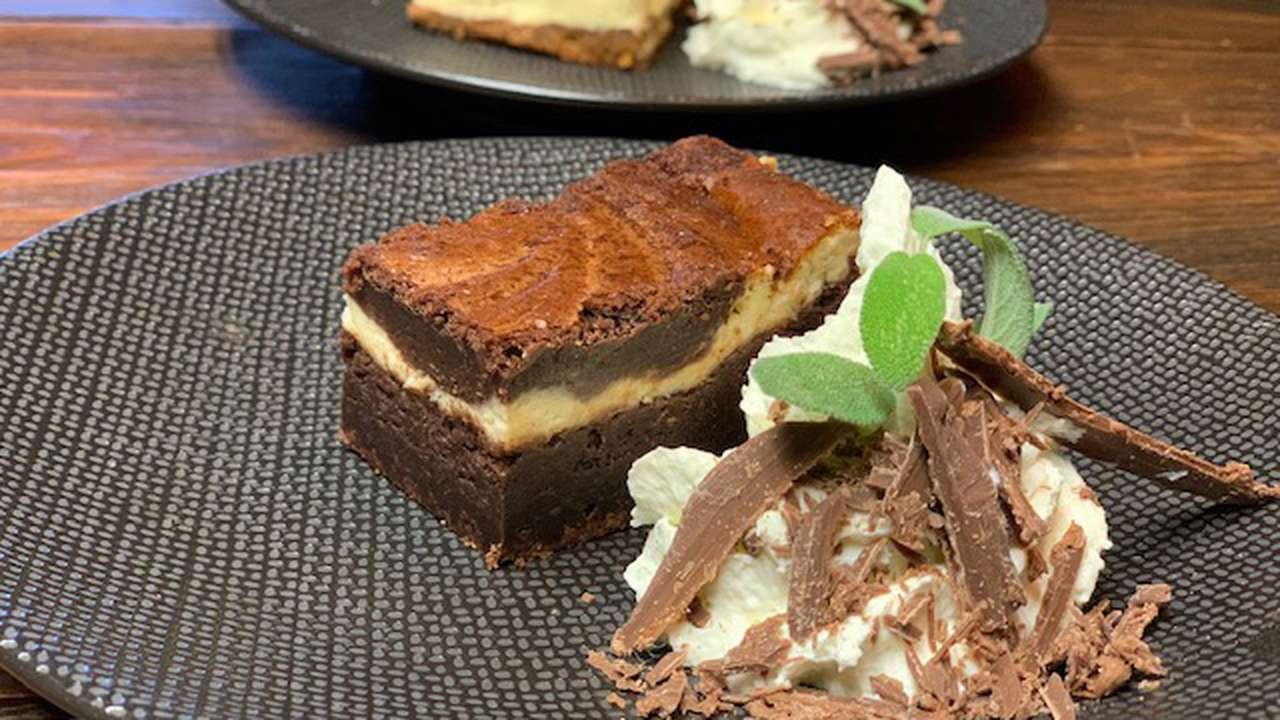 Chocoladecake als dessert